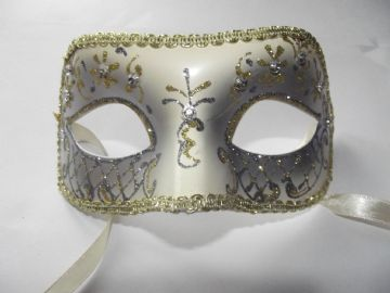 Gold jewelled glitter Petite Mask (c)